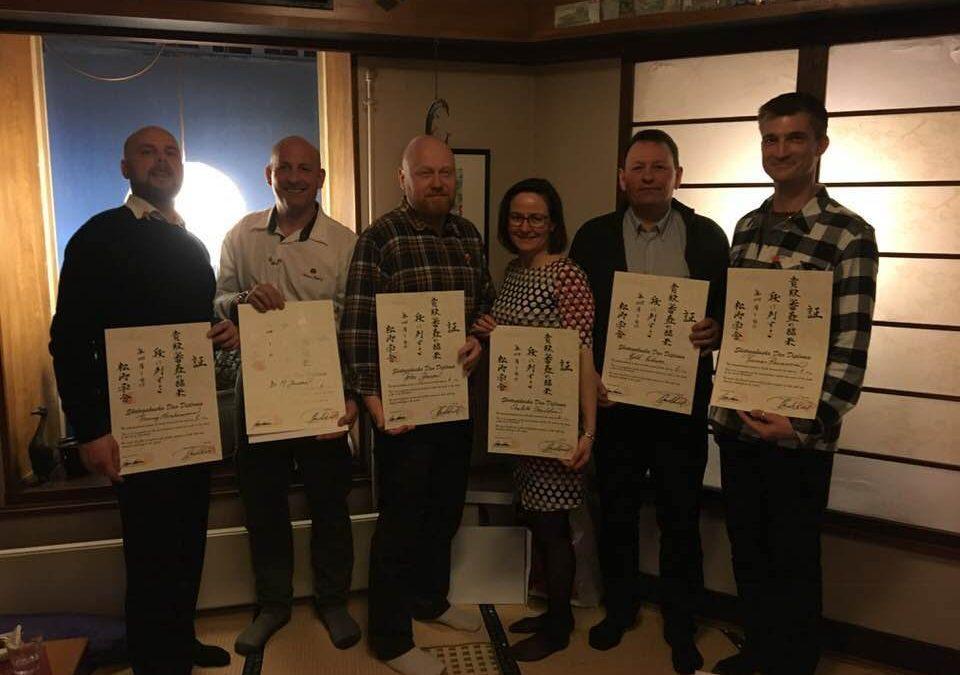 Nye mestergrader i Taifu Karate Dojo