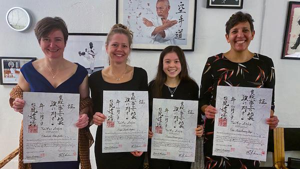 Nye mestergrader til instruktører i Taifu