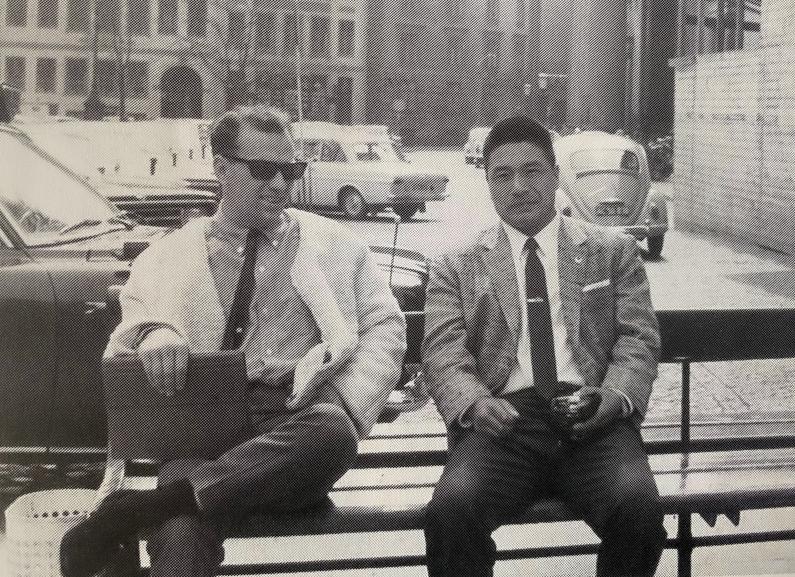 Bura sensei og Watanabe sensei 1964